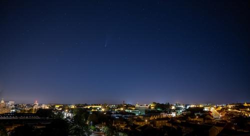Comète sur la ville