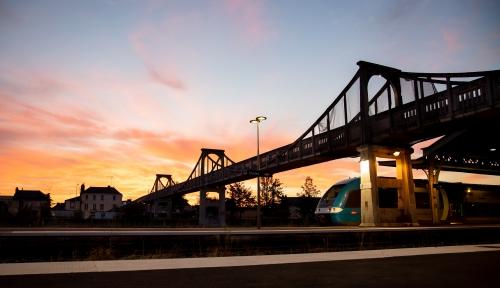 Passerelle gare Cholet